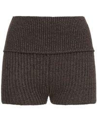 Vaara Tina High Waist Heavy Knit Trousers - Brown