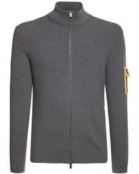 Ferrari Strickpullover Aus Wolle Mit Logostickerei - Grau