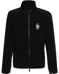 3 MONCLER GRENOBLE ナイロンフリーススウェットシャツ - ブラック