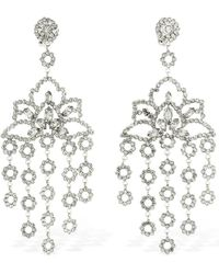 Etro Maxi Chandelier Crystal Clip-on Earrings - Mettallic