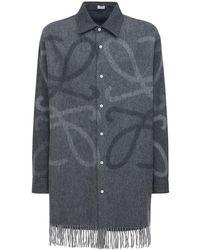 Loewe - オーバーサイズウールブレンドシャツ - Lyst
