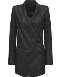 """Ann Demeulemeester - Giacca Doppiopetto """"angelina"""" In Pelle - Lyst"""