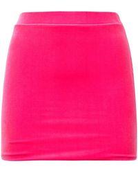 Vetements Minirock Aus Stretch-samt - Pink