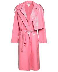 Bottega Veneta Тренч Из Искусственной Кожи - Розовый