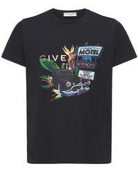 Givenchy Футболка Из Хлопка С Принтом Motel Summer Trip - Черный