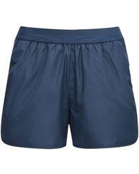 Thom Browne Track Shorts W/ Stripe Detail - Blue