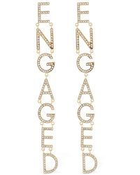 Bijoux De Famille - Engaged Crystal Earrings - Lyst