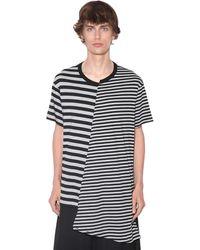 Yohji Yamamoto Camiseta Asimétrica De Algodón - Negro
