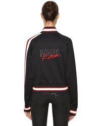 Karl Lagerfeld - Karl X Kaia Embroidered Track Jacket - Lyst