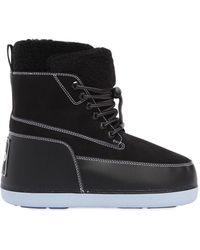 KENZO - Nebraska Faux Shearling Snow Boots - Lyst