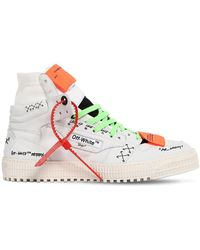 "Off-White c/o Virgil Abloh Sneakers Montantes En Cuir ""Off Court"" - Blanc"