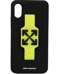 Off-White c/o Virgil Abloh Logo Iphone X/xs Cover W/ Finger Grip - Black