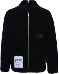 McQ Foam ベルベットジップシャツジャケット - ブラック