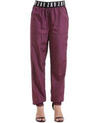 """Versus Pantalon de survêtement mat """"zayn x """" - Violet"""