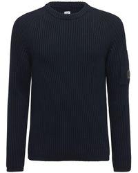 C.P. Company ウールニットセーター - ブルー
