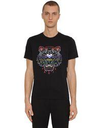 "KENZO T-Shirt En Jersey De Coton ""Icon"" - Noir"