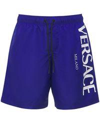 Versace Плавки С Логотипом - Синий
