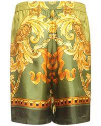 Versace Шелковые Шорты Medusa Renaissance - Многоцветный