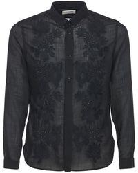 Saint Laurent Pineapple シアーウール&テックシャツ - ブラック