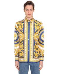 Versace Seidenhemd Mit Baroquedruck - Mehrfarbig