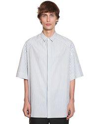 Juun.J コットンポプリンストライプシャツ - ホワイト