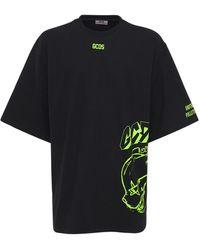 Gcds オーバーサイズコットンtシャツ - ブラック