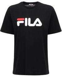 Fila T-shirt Aus Baumwolle Mit Logo - Schwarz