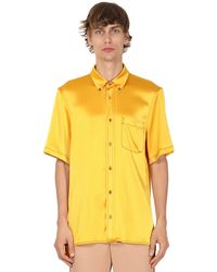 Sies Marjan Camicia In Techno Raso - Giallo