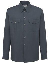 Lemaire Cotton Military Shirt - Blue