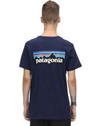Patagonia - P-6 ロゴプリント オーガニックコットンtシャツ - Lyst