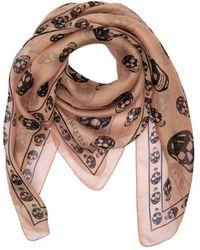 Alexander McQueen Skull Print Silk Chiffon Scarf - Multicolour