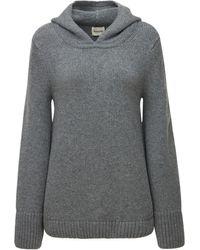 Khaite Elodie Cashmere Hooded Jumper - Grey