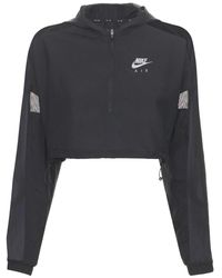 Nike Chaqueta Running Cropped - Negro