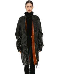 Haider Ackermann - Vinyl Raincoat W/ Velvet Lining - Lyst
