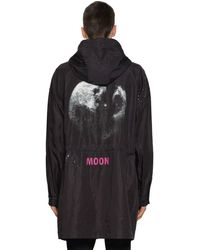 Valentino Moon Dust Nylon Caban Parka - Black