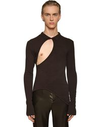 Ludovic de Saint Sernin ビスコースブレンドセーター - ブラック