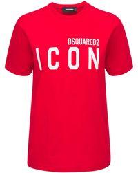 DSquared² Icon & Logo ジャージーtシャツ - レッド