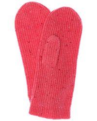 Isabel Marant Chiraz Mélange Cashmere Mittens - Pink