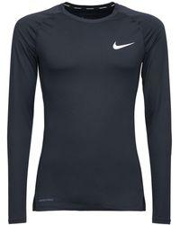 "Nike - Langarm-oberteil "" Pro"" - Lyst"