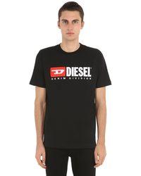 DIESEL T-shirt In Jersey Di Cotone - Nero