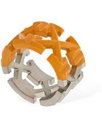 "Off-White c/o Virgil Abloh Zweifarbiger Ring ""multi Arrow"" - Orange"