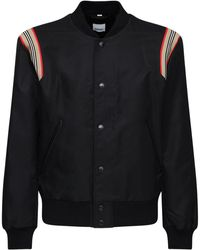 Burberry ナイロンボンバージャケット - ブラック