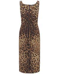 Dolce & Gabbana シルクシャルムーズドレス - ブラウン