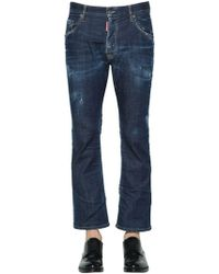 DSquared² - 22cm Flared Denim Cropped Jeans - Lyst