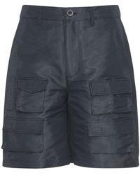 Givenchy Coated Tech & Cotton Cargo Shorts - Black