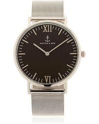 KAPTEN & SON - 40mm Steel Mesh Watch - Lyst
