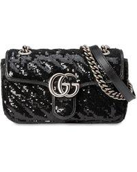 """Gucci Мини-сумка """"gg Marmont 2.0"""" - Черный"""