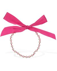 Moschino Imitation Pearl & Rayon Necklace - Multicolour