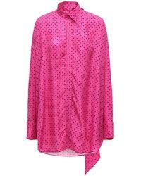 Balenciaga ビスコースジャカードシャツ - ピンク