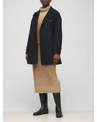 Loro Piana Baby Cashmere Double Caban Coat - Black